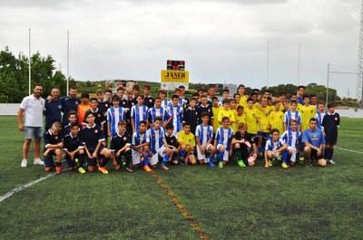 Foto conjunta dels tres equips que participaven al Torneig