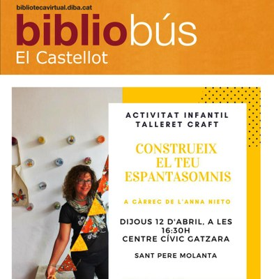 El Bibliobús organitza un taller per a infants a Sant Pere Molanta el dijous de la setmana que ve