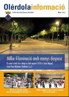 """El butlletí municipal """"Olèrdola Informació"""" estrena disseny aquest mes de gener"""