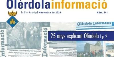 "El butlletí municipal ""Olèrdola Informació"" fa 25 anys"