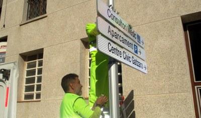 El canvi de senyalització a Olèrdola es preveu completar aquest mes de novembre