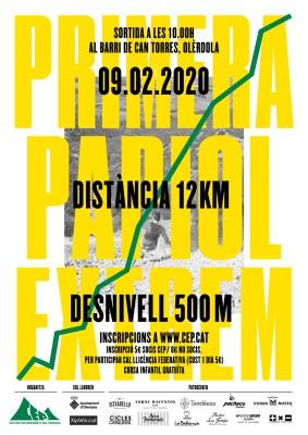 El Centre Excursionista del Penedès organitza el proper 9 de febrer la 1a Cursa Circular al cim del Papiol