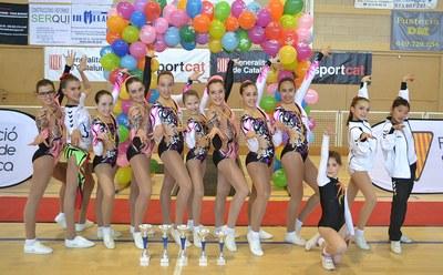 El Club d'Olèrdola ha organitzat el Campionat de Catalunya d'aeròbic