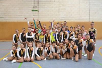 El club d'Olèrdola ha organitzat fases de Copa Catalana i Campionat de Catalunya escolar d'aeròbic