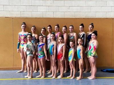 El Club Rítmica Olèrdola participava amb 33 gimnastes en la 2a fase del torneig comarcal