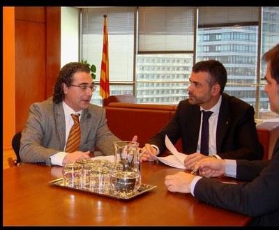 Francesc Olivella, president del Consell Comarca; i el conseller Santi Vila