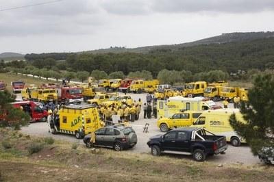 La Federació d'ADF's va fer l'any passat a La Muntanyeta un simulacre d'incendi