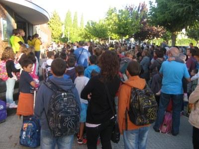 Parlament de benvinguda d'inici de curs, a l'escola Circell aquest matí
