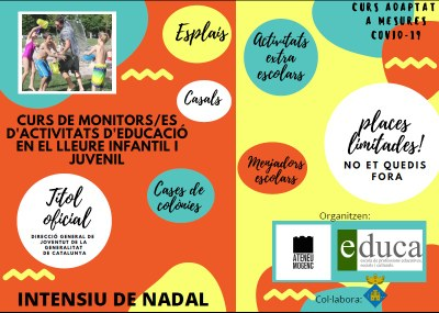 El curs intensiu de Nadal programat a Olèrdola per obtenir el títol de monitor es farà online