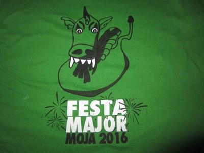 El Drac protagonitza la samarreta de Festa Major dels Diables de Moja