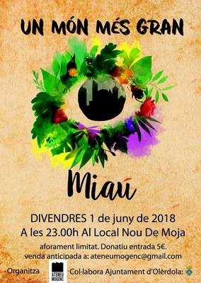 """El grup """"Miaú"""" porta el seu energètic directe a Moja el divendres 1 de juny"""