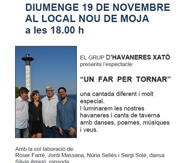 """El grup d'havaneres Xató porta aquest diumenge a Moja l'espectacle """"Un far per tornar"""""""
