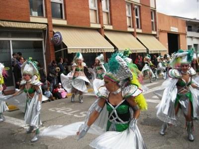 El grup de Sant Pere, durant la rua de l'any passat al poble