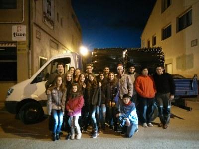 Voluntaris que dissabte feien la recollida a Sant Pere