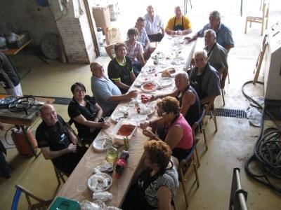 """El Grup gastronòmic """"Els 3 pins"""" i la Comissió de Festes de Moja"""