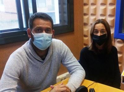 L'alcalde, Lucas Ramírez, i la regidora de medi natural, Mireia Mancera