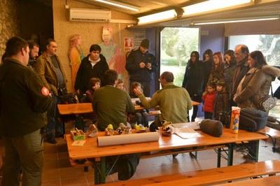 El Parc d'Olèrdola ha acollit aquest dissabte al matí un taller d'anellament d'ocells