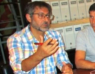 Xavier Serramià intervenint en un ple de l'Ajuntament