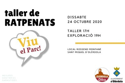 El prestigiós científic Jordi Serra conduirà aquest dissabte a Sant Miquel un dinàmic taller dedicat als ratpenats