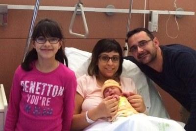 El primer penedesenc nascut aquest 2016 a l'Hospital Alt Penedès és fill d'una parella de Moja