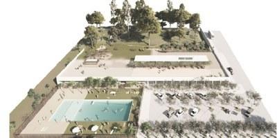 El projecte amb  pavelló esportiu i piscina ha estat l'opció guanyadora del procés per a escollir els usos del Bosquet de Sant Miquel