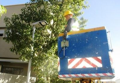 La subvenció del PUOSC permetrà completar la instal.lació de leds a l'enllumenat de tot el municipi