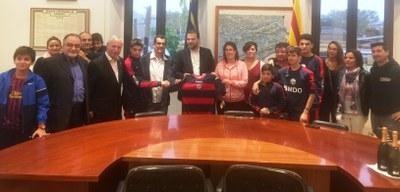 El Secretari General de l'Esport, Gerard Figueras, recolza el naixement del CF Sant Miquel