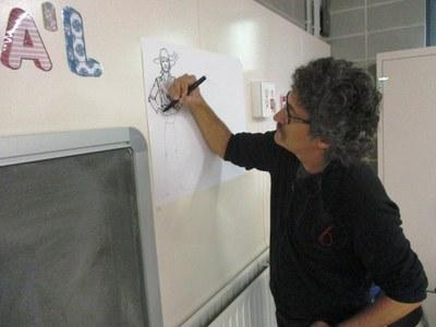 Oriol Garcia Quera va oferir tallers l'any passat a les escoles d'Olèrdola