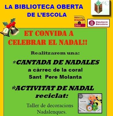 El Servei de Biblioteca Oberta celebra el Nadal aquest dijous a Moja i dilluns a Sant Pere Molanta
