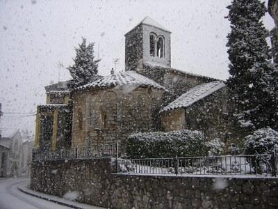 Imatge de la nevada de març de 2010(foto:olerdola.org)