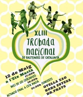 El Toc d'Olèrdola participa aquest dissabte a Sabadell en la 43a Trobada Nacional de Bastoners