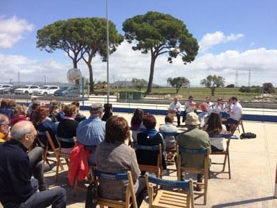 El vent no va impedir que la festa del 3r aniversari de l'Ateneu Mogenc fos tot un èxit de participació i de bon ambient