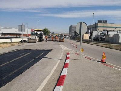 Elevat ritme d'execució de les obres de millora dels camins asfaltats municipals