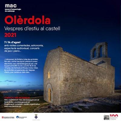 """Els """"Vespres al castell d'Olèrdola"""" portaran dues jornades singulars al conjunt monumental els dissabtes 7 i 14 d'agost"""