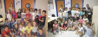 Els alumnes de 3r de l'escola Circell de Moja visiten Canal 20-Ràdio Olèrdola