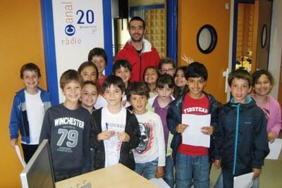Alumnes de 3r A durant la visita