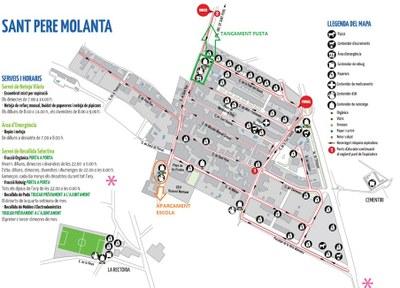 Els contenidors de l'àrea d'emergència del carrer Sant Roc de Sant Pere Molanta es traslladaran al camí del barri Ferran