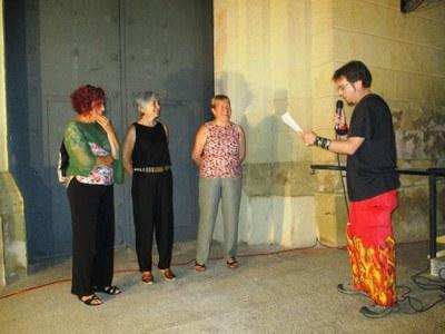Els Diables de Moja reten homenatge a les mestres Paloma Solé, Assumpta Ràfols i Mercè Garcia