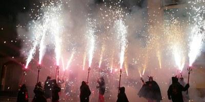 """Els Diables petits de Moja obtenen la 3a posició en el concurs """"Correspurnes"""" de Sant Pere de Ribes"""