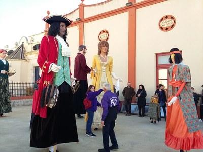 Els gegants de Masllorenç participaran dissabte en la cercavila de la Festa Major de Moja