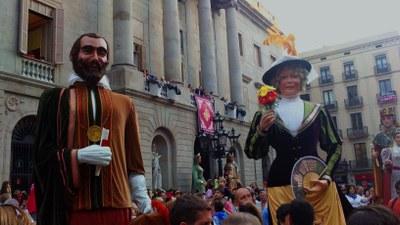 Els Gegants de Moja van actuar fa dos anys a Barcelona per les festes de la Mercè