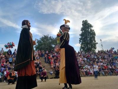 Els gegants de Moja, centres d'interès de la Trobada Gegantera de Sant Boi de Llobregat