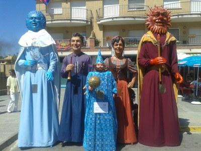 Els gegants de Sant Andreu de la Barca participaran en la processó de la Festa Major de Moja