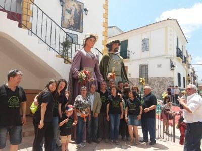 Els Gegants de Sant Pere Molanta participen en el Corpus de la localitat cordovesa de Valenzuela