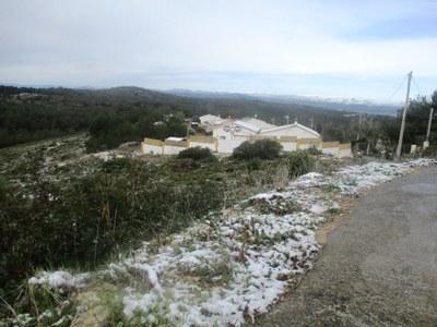 Imatge d'aquest matí de dimarts, al costat del dipòsit d'aigua de Daltmar
