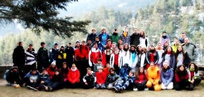 Participants de l'Esquiada Jove d'aquest 2013