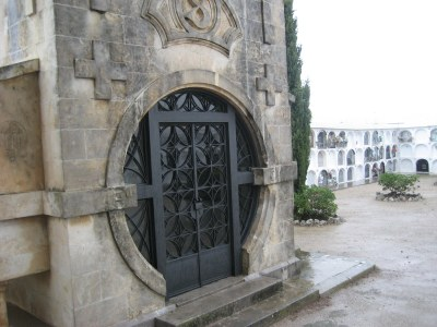 Imatge del cementiri de Moja, aquest dimecres