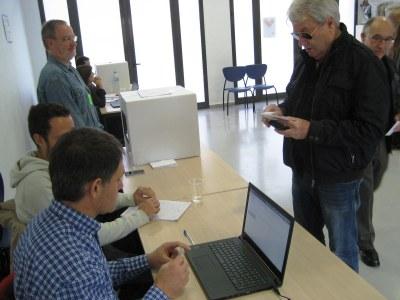 Imatge de la votació del 9N a Olèrdola