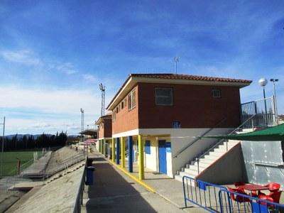 Els vestidors del camp de futbol de Moja ja estan connectats a la xarxa de Gas Natural