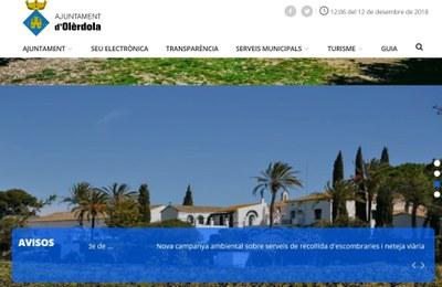 En funcionament la nova web municipal, amb més continguts, nou disseny i adaptada a dispositius mòbils